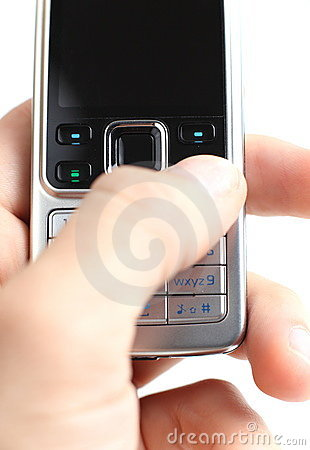 Texting on a mobile