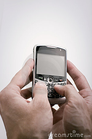 Texting on PDA