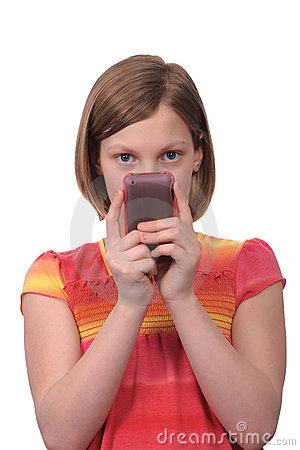 Texting on phone