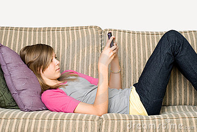Texting teenager