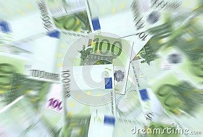 Textur för 100 euroanmärkningar