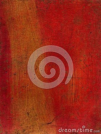 Textura artística de los media mezclados - rojo y oro