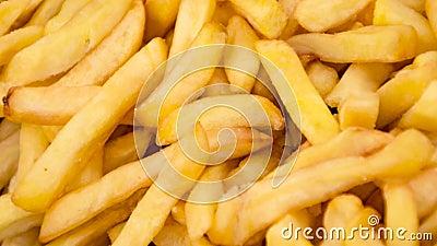 Textura de batatas fritas vídeos de arquivo