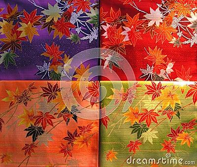 Textura de la materia del kimono