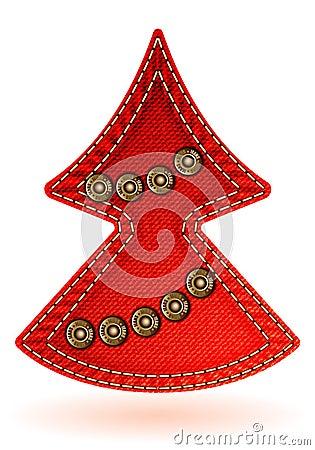 Textura de los pantalones vaqueros de la Navidad