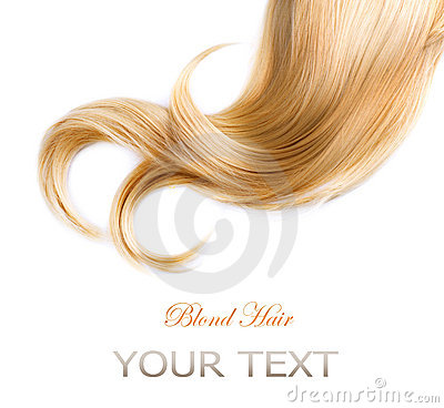 Textura del pelo rubio