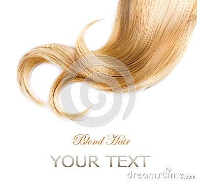 Textura do cabelo louro