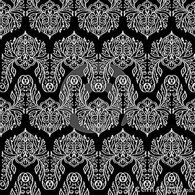 Textura incons til del vector estampado de flores blanco y negro para el dise o y la moda Diseno y textura