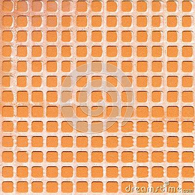 Textura narural do lado traseiro de telha cerâmica do Close-up