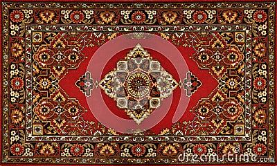 Textura tradicional adornada roja de la alfombra imagenes for Alfombra persa roja