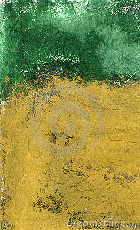 Textural Ochre and Green