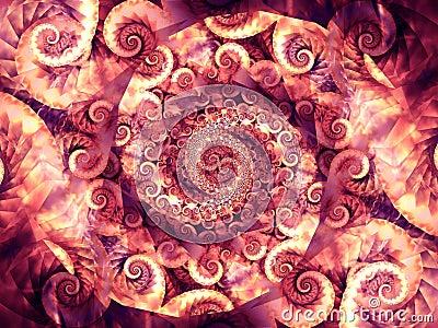 Texturas frescas de los remolinos de los espirales