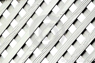 Texture Of Artificial Wood Lattice Fence Royalty Free