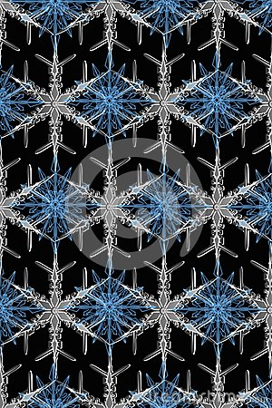 Texture of beautiful snowflakes