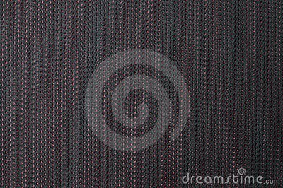 Texture of black cloth with red dots