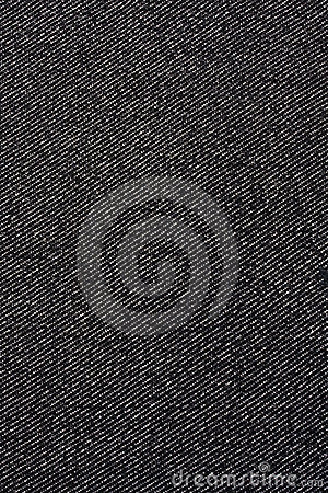 Texture of black jeans fabric