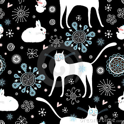 Texture cats and rabbits