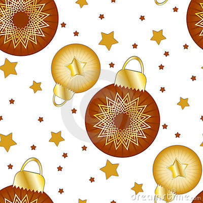 Texture with Christmas baubles and stars