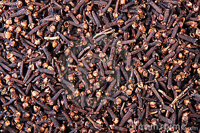 Texture of cloves
