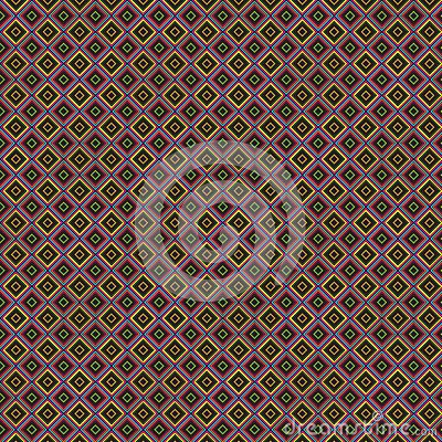 Texture of colorful rhombus on a brown background