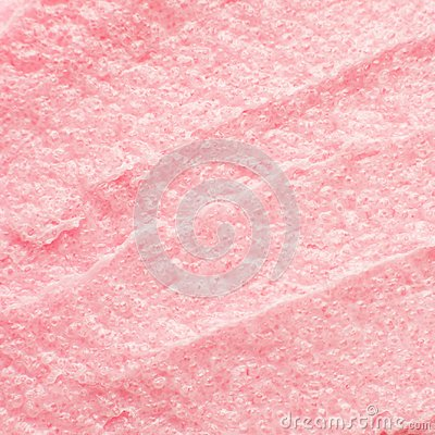 Free Texture Cosmetic Scrub For Face And Body Pink Sugar. Selective Focus, Trendy Punchy Pastel Background. Stock Photography - 119095872