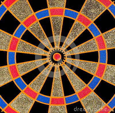Texture of the dartboard