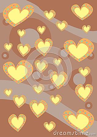 Texture de fond de coeurs