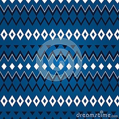 Texture de losange différent sur un fond bleu