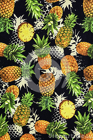 texture de tissu d 39 impression sur l 39 ananas photo stock image 58214077. Black Bedroom Furniture Sets. Home Design Ideas