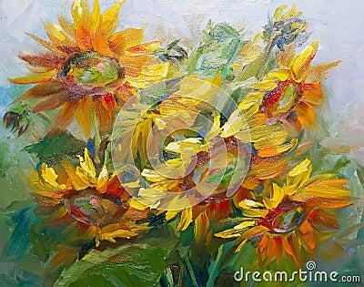 Texture des peintures l 39 huile fleurs fragment de - Papier pour peinture huile ...