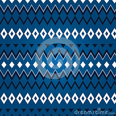 Texture of different rhombus on a blue background