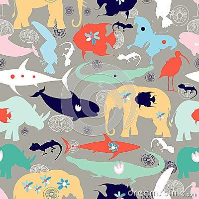 Texture of different wild animals