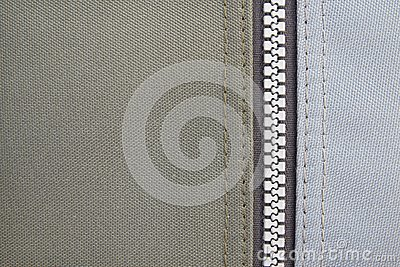 Texture of fabric with zipper