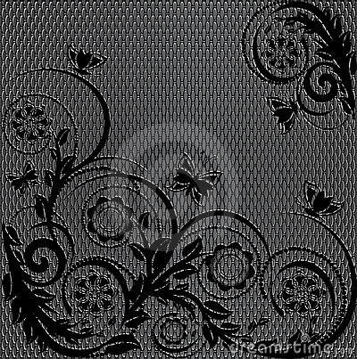 Texture with floral ornament