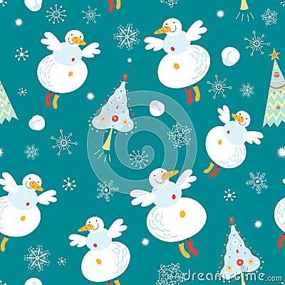 Texture flying snowmen