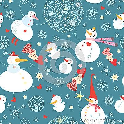 Texture funny snowmen