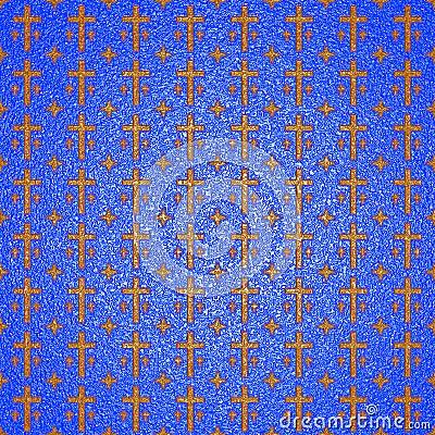 Texture: gold crosses