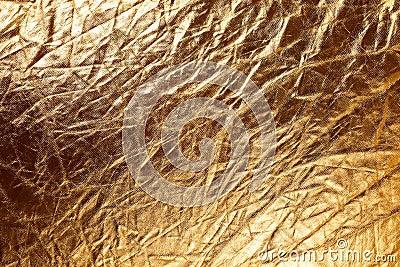 Texture of golden metallizic fabric