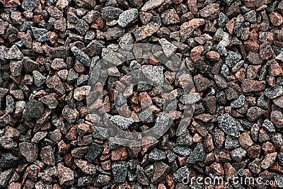 Texture of granite rubble