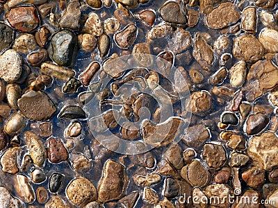 Texture. Gravel. Ice.