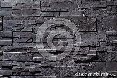Texture of gray stone wall