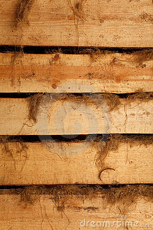 Texture of horizontal boards with rags