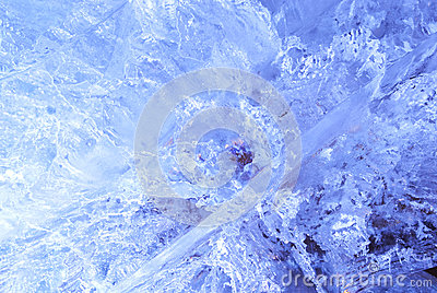 Texture of ice  with blue back light.