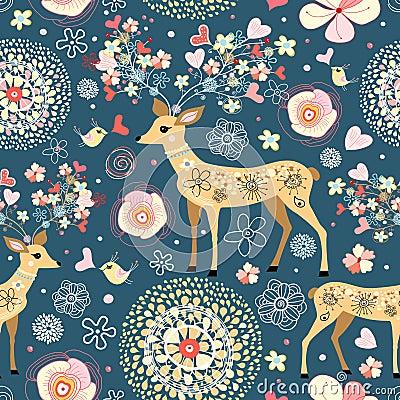 Free Texture Is Fabulous Flower Deer Stock Photo - 18638870