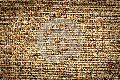 Texture of jute canvas