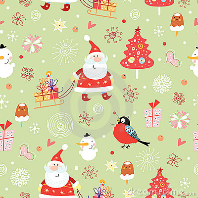 Free Texture Of Santa Claus With Gifts Royalty Free Stock Image - 16983856
