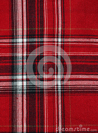 Texture of red-black checkered fabric