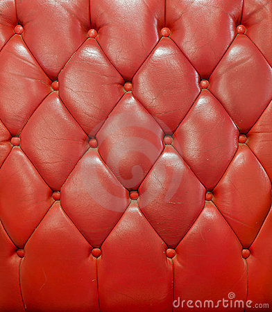 Texture of red leather vintage sofa