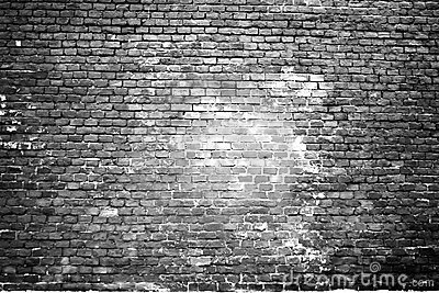 Texture of the scorched old white brick wall