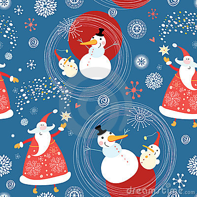 Texture snowmen and Santa Claus